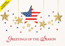 National Superstar Patriotic Holiday Cards